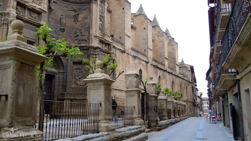 Outside-the-Iglesia-de-Santa-María-Viana-Spain-Camino-de-Santiago